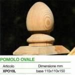 accessori legno pomolo ovale